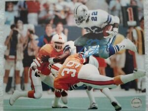EMMITT SMITH Hand-Signed Autographed DALLAS COWBOYS 8x10 ACTION Photo w/COA-SNOW