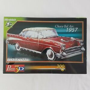 NEW Chevy Bel Air 1957, 299 Piece 3D Jigsaw Puzzle Made by Wrebbit Puzz-3D