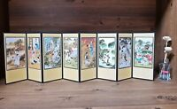 Folding Screen Desk 8 Panels Daily Sketches of Traditional Korea Korean Classic