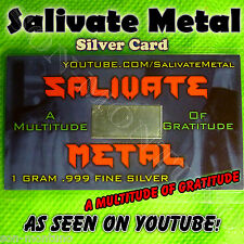 SALIVATE METAL Silver Card 1 gram fine .999 Ag YouTube LIMITED TO 250 & SOLD OUT