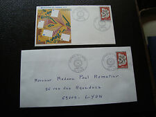 FRANCE - 2 enveloppes 1er jour 9/3/1974 (journee du timbre) (cy25) french