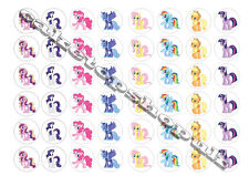 48 my little pony cake toppers 30mm Printed on premium rice paper