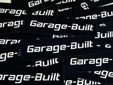 Garage-Built Sticker Biker Motorcycle Helmet Harley Davidson Toolbox Car Hot Rod