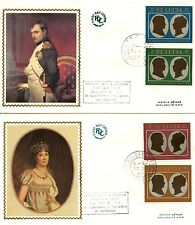 OFFICIAL FIRST DAY COVER  / 81 CENTENARY OF THE BIRTH NAPOLEON SAINTE LUCIA 1969
