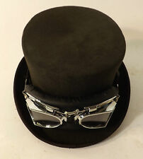 Top Hat New With Goggles Steam Punk Victorian Style Wool Felt Brown Hat
