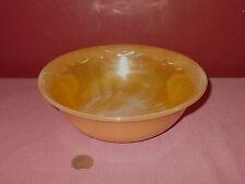 Vintage FIRE KING Peach Luster Ware  SERVING BOWL Leaf Rim 8 1/4 inch