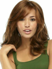 100% Real Hair! New Beautiful Women's Medium Light Brown Curly Human Hair Wigs
