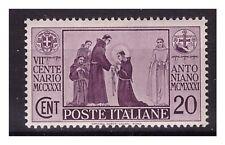 REGNO 1931 -  S. ANTONIO   Cent. 20 NUOVO *