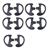 5Pairs Replacement Radio Earpiece Insert for Acoustic Coil Tube Earbud Blk