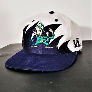 Vintage 90s Notre Dame Fighting Irish Sharktooth Snapback Hat Logo 7 Athletic