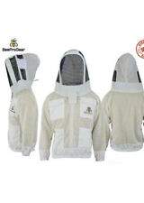 Top Quality 3Layer Unisex Ventilated White Mesh Bee Jacket Fencing Veil/Hood. XL