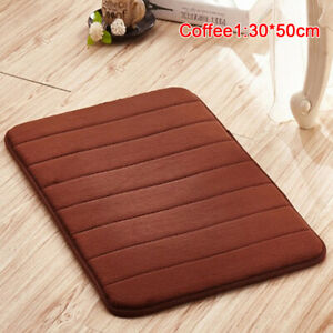 Home Bath Mat Coral Fleece Carpet Non-slip Memory Foam Washable Rug Floor  CM