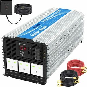GIANDEL 4000W Heavy Duty Pure Sine Wave Power Inverter DC12V to AC240V + Remote