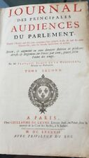 Jamet de la Guessiere - Journal des Audiences du Parlement - tome 2