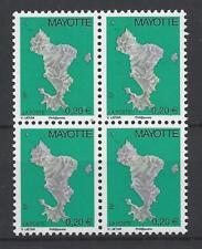 Mayotte 214 postfrisch luxus Viererblock MNH Französische Kolonien Frankreich RR