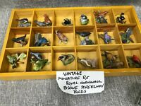 Set of 25  VTG Miniature RC Royal Cornwall Bisque Porcelain Bird Figurine  DS43