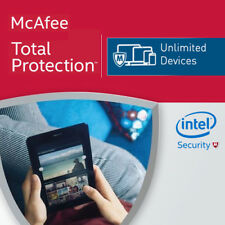 McAfee Total Protection 2018 Unlimited Devices 2017 12 Months Mac Win Android