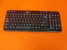 Logitech K360 Black Wireless USB Desktop Keyboard Only Missing Receiver 8141