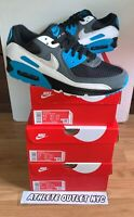 New Nike Air Max 90 Laser Blue Black White Men's Size 8-13 Sneakers CT06393-001