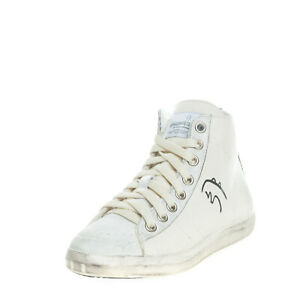 RRP €220 PRIMABASE Canvas Sneakers EU36 UK3 US6 Worn & Dirty Look Made in Italy