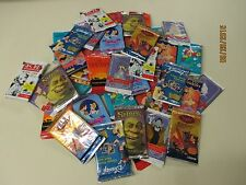 Disney & Comic  40 Assorted Trading Card Unopened 40 Pack Lot.