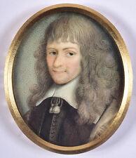 """Portrait of Nicolas Fouquet"", French miniature, 18th century"