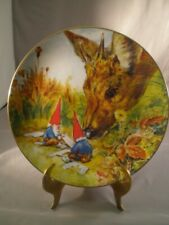 """Rien Poortvliet Porcelain Collector Plate """"Gnome Made"""" Gnomes 4 Seasons Autumn"""