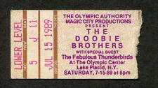 1989 Doobie Brothers Fabulous Thunderbirds Concert Ticket Stub Lake Placid Cycle