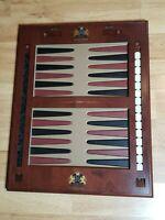 Vintage Noble Games wood Mahogany Backgammon Board Game