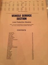 Vintage Snowmobile Service Manual Shop Mechanic Repair Rupp Alsport Chaparral