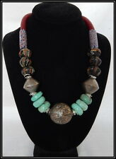 Vintag, Antique, Handmade, Trade Bead, Turquoies & Moroccon Bead Necklace
