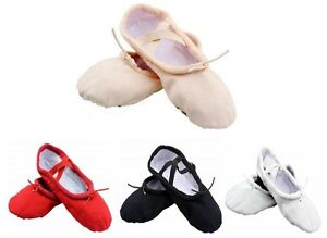 Ballet Shoes Yoga Gymnastic Split Sole Canvas