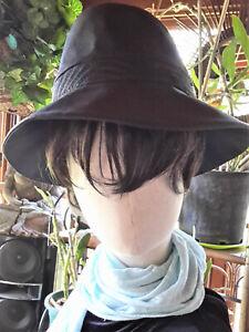 HELEN KAMINSKI Versatile Chic OLENA Hat, Cotton, Adjustable, Black, OS
