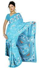 chiffon Bollywood Carnevale SARI ORIENTALE INDIA fo332