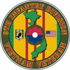 9th Infantry Division Vietnam Veteran Sticker Vinyl Decal 6-8