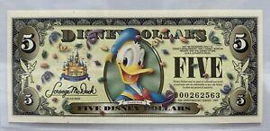 2005 50th Anniversary Series Disney Dollar $5 Donald Duck (Barcode) Uncirculated