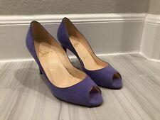 a73253a8b365 Christian Louboutin You You 85 Peep Toe - Lilac   Purple Suede - Size 35