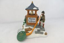 """Alpenhorn Player"" Dept. 56 Alpine Village Sign 56182 - Mib"