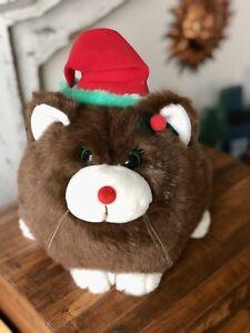 Dakin Applause Medium Big Daddy Fat Cat Plush Christmas Santa....So Cute!! EUC
