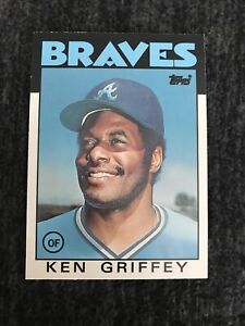 1986 Topps Traded Baseball #41T Ken Griffey Sr. Atlanta Braves. Near Mint
