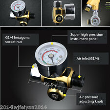 Metal Spray Paint Gun Air Pressure Regulator Spray Gun Pressure Gauge 0-0.10Mpa