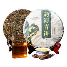 357g сырой чай Пу Эр Пуэр Юньнань Пуэр зеленый чай Китай торт чая Менхай старых деревьев
