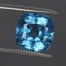 Gorgeous! Swiss Blue Topaz 10.50 Ct. Square Cut Natural Loose Gems Certified