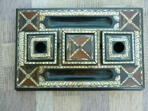 19thC Vizagapatam Anglo Indian pen / inkstand