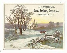 NJ Somerville New Jersey Trade Card Stoves Hardware Tinware Somerset County