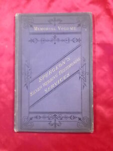 RARE C H SPURGEON SILVER JUBILEE MEMORIAL P&A 1879 WITH MUSIC DECORATIVE CLOTH