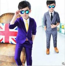 2pcs Handsome Kid Baby Boys Wedding Party Suit Coat+Pants Gentleman Clothing Set