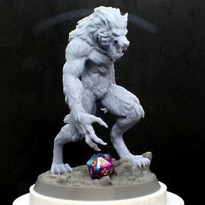 6 inch (16cm) tall Werewolf 3D Resin Print, 1:12 Scale, DnD, Beautiful!