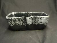 RARE BLACK GREY MCCOY USA 108 VINTAGE PLANTER ROUNDED RECTANGE SHAPE STUDIO ART