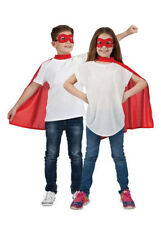 Kids Size Red Superhero Cape with Eyemask